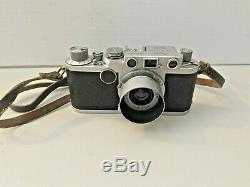 Leica 2f rangefinder 35mm camera with Leitz Elmar f= 5cm 13.5 lens REDUCED