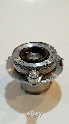 Leica 50mm (5cm) f3.5 Nickel Leitz Elmar Collapsible LTM M39 lens