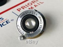 Leica 50mm F3.5 Collapsible Lens Leitz Wetzlar Germany m39 LTM Screw Mount 5cm