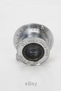 Leica 5cm (50mm) f3.5 Leitz Elmar Collapsible LTM M39 Lens #045