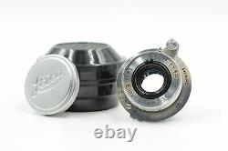 Leica 5cm (50mm) f3.5 Leitz Elmar Collapsible LTM M39 Lens f22 #487