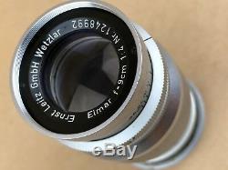 Leica 9cm Elmar M39 Screw Mount 90mm F/4 Ernst Leitz gmbH Wetzar Lens