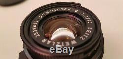 Leica CL Lens Set Leitz Wetzlar Summicron-C 2/40 Elmar-C 4/90