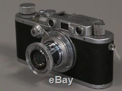Leica D. R. P. Ernst Leitz Wetzlar Rangefinder with Leitz Elmar 50mm f 3.5 Lens