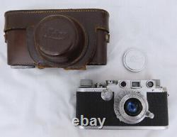 Leica DRP Ernst Leitz Wetzlar #505836 Camera Leitz Elmar f=5cm 13.5 Lens withcase