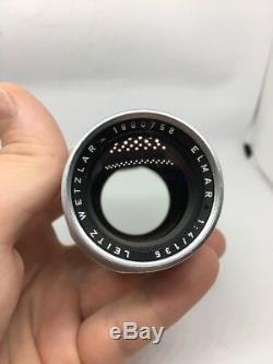 Leica Elmar 135/ 1 4 lens, LEITZ -WETZLAR- ELMAR