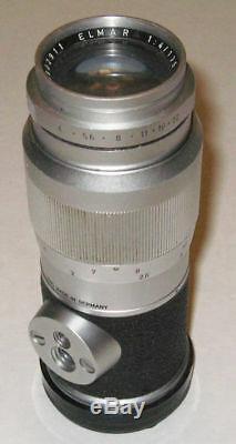 Leica Elmar 135mm f/4 Leitz Wetzlar Silver M mount