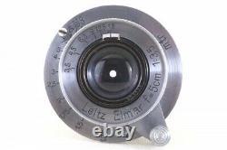 Leica Elmar 50mm 5cm F/3.5 Lens LTM L39 LEITZ from Japan 293133 Exc+++