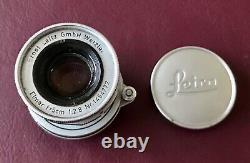 Leica Elmar 50mm f 2.8 Collapsible Screw Mount Lens 1956 Leitz Wetzlar Fits IIIg