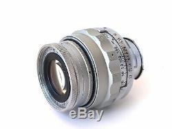 Leica Elmar 9CM f/4 Collapsible M Mount Lens. Ernst Leitz 90mm Portrait Lens 50s