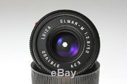 Leica Elmar M 12,8 /50 mm E39 black finish für Leica M mount No. 3781900