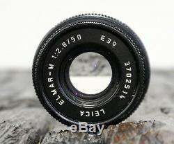 Leica Elmar M 50mm 2.8 schwarz + Hood + Manual