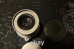 Leica Ernst Leitz Wetzlar Elmar 50mm 5cm 12.8 LTM Mount Prime Lens #1494975