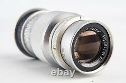 Leica Ernst Leitz Wetzlar Elmar 9cm 90mm f/4 Lens for LTM M39 Screw Mount V18