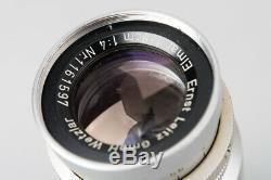Leica Ernst Leitz Wetzlar Elmar 9cm f/4 90mm F4 Lens M39 LTM Screw Mount