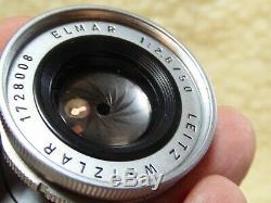 Leica Ernst Leitz Wetzlar Elmar M 50mm F2.8 Collapsible Lens 1960 Excellent