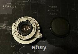 Leica Ernst Leitz Wetzlar Elmar Red Scale 50mm 5cm 13.5 LTM Mount Prime Lens