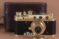 Leica II D D. R. P. Camera lens Leitz Elmar Exclusive (Fed Zorki copy)