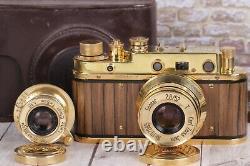 Leica II D D. R. P. Vintage Camera With Sonnar Carl Zeiss Lens + lens Leitz Elmar