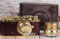Leica II D D. R. P. Vintage Camera With lens Leitz Elmar + Sonnar Carl Zeiss Lens