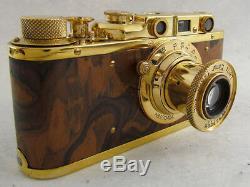 Leica II(D) Luftwaffe WWII Vintage Russian Gold Camera + Lens Leitz Elmar EXC