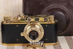 Leica-II D Panzerkampf with Leitz Elmar lens 35mm Art Camera Black /Fully working
