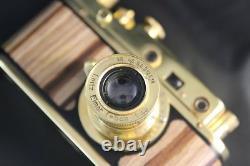 Leica II(D) Wiking WWII Russian EXC! Gold Camera + lens Leitz Elmar 13.5 f=5cm