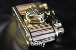 Leica II(D) Wiking WWII Vintage Russian GOLD Camera + lens Leitz Elmar 13.5 f=5