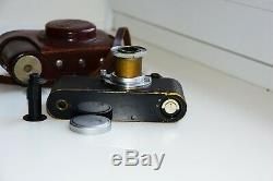 Leica II DRP Black Edition 1932 RANGEFINDER Film Camera withs lens Leitz Elmar EXC