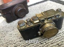 Leica II DRP Brass Edition Replica RANGEFINDER Camera withs lens Leitz Elmar