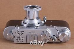 Leica II Silver D D. R. P. Camera lens Leitz Elmar Exclusive (Fed Zorki copy)