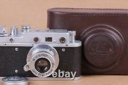 Leica II Silver Kriegsmarine Camera lens Leitz Elmar Exclusive (Fed Zorki copy)