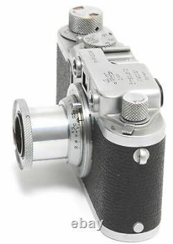 Leica IIF camera with Leitz Elmar 3,5/5cm lens and hood Screw Mount