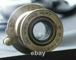 Leica III Schwarz Black ser 119949 + Leitz Elmar nickel 50mm F3.5
