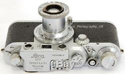 Leica IIIc 35mm Rangefinder Made by LEITZ in 1950 + Elmar f=5cm 13.5 Lens