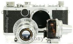 Leica Ic 1C 35mm Film Camera by LEITZ 1951 + Elmar f=5cm 13,5 Lens 1950 + VIOOH