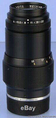 Leica Leitz 135mm Tele-elmar F4 11851 Black M Lens Ver 2 +12575 Hood +caps +case