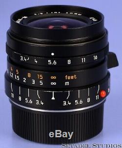 Leica Leitz 21mm Super-elmar-m F3.4 11145 Black 6bit Asph Lens +box +caps +shade