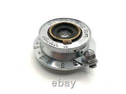 Leica Leitz 3.5cm (35mm) f3.5 Late Coated Elmar L39 Screw Thread Lens Chrome