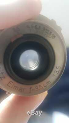 Leica Leitz 3.5cm f3.5 Elmar NICKEL Rangefinder M39 Screw Mount Lens