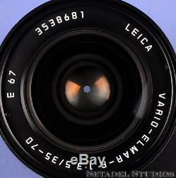 Leica Leitz 35-70mm Vario-elmar-r F3.5 3cam Black R E67 Germany Lens +caps +card