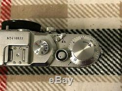Leica Leitz 3C, IIIC Camera body and lens f 5CM Elmar S/N 418827 1946