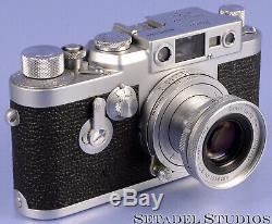 Leica Leitz 50mm Elmar F2.8 Chrome 11012 Elmoo Collapsible Sm Lens Clean Nice