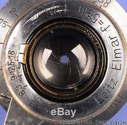 Leica Leitz 50mm Elmar F3.5 Sm Screw Mount Ltm Chrome Collapsible Lens