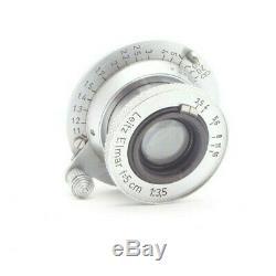Leica Leitz 5cm f3.5 Elmar Collapsible 35mm Screw mount Rangefinder Lens #30647