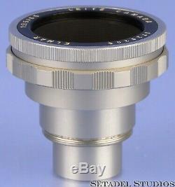 Leica Leitz 65mm Elmar 11062 Chrome Canada Viso Visoflex II Lens +caps Mint