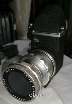 Leica Leitz 65mm Elmar f3.5 with OTZFO focus mount & Visoflex II Focusing System