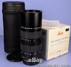 Leica Leitz 80-200mm Vario-elmar-r F4 R 11280 Black Lens +box +caps +papers