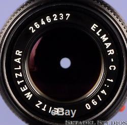 Leica Leitz 90mm Elmar-c F4 Black 11540 M Germany Lens +caps Clean Nice