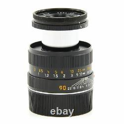 Leica Leitz 90mm F4 Macro-elmar-m Black Set 11633 #3275
